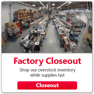 Closeout - Shop out overstock inventory while supplies last