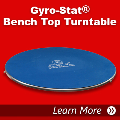 Gyro Stat bench Top Turntable
